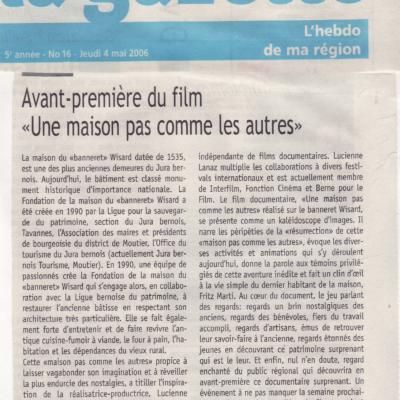 Extrait de la Gazette qui présente le film