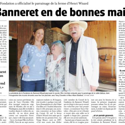 Extrait du Journal du Jura sur le parrainage de la Maison du banneret Wisard